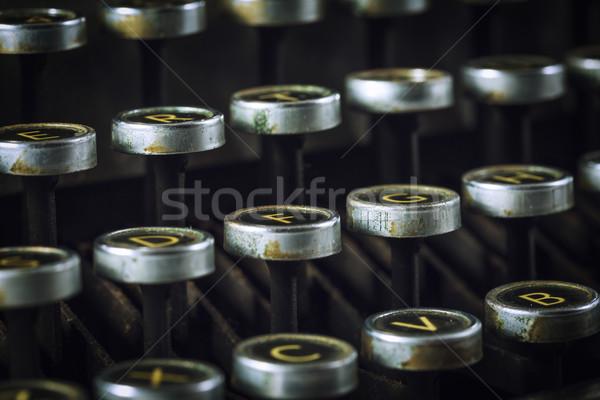 close up of keys of Vintage typewriter  Stock photo © lostation