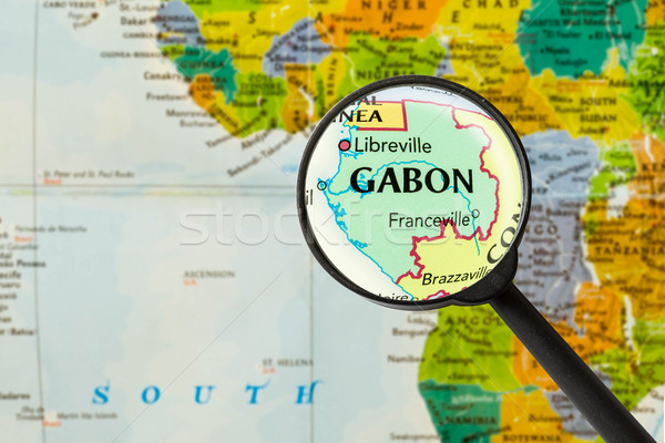 Map of Gabonese Republic Stock photo © lostation