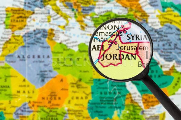 Map of Hashemite Kingdom of Jordan  Stock photo © lostation