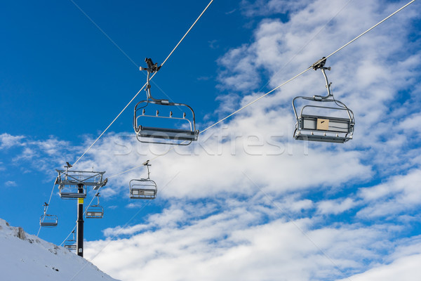 chairlifts at Coronet peak ski field Stock photo © lostation