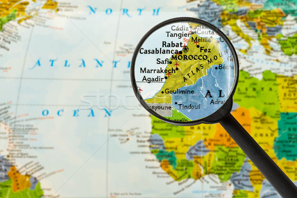 Map of Kingdom of Morocco Stock photo © lostation