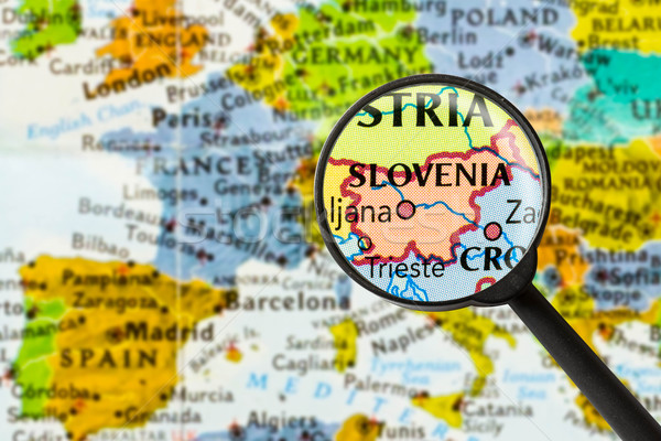 Map of Republic of Slovenia Stock photo © lostation