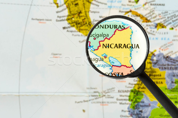 map of Republic of Nicaragua  Stock photo © lostation