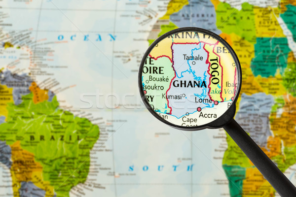 Map of Republic of Ghana Stock photo © lostation