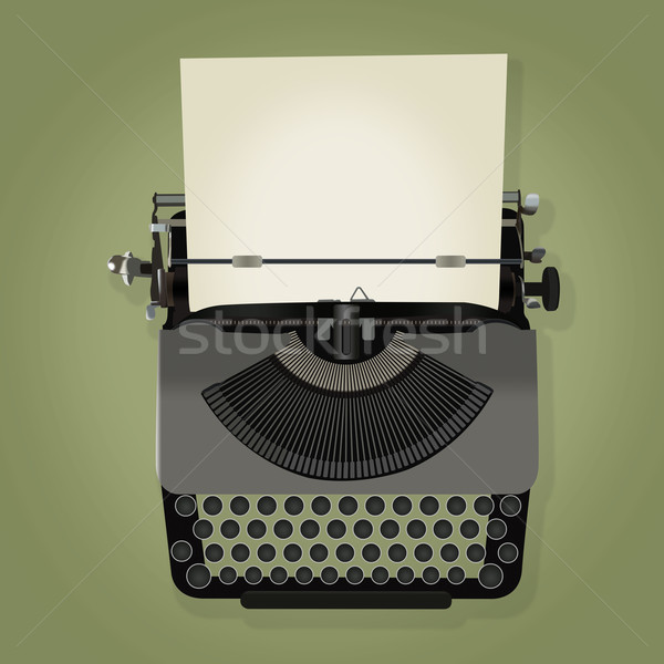 illustration of vintage typewriter Stock photo © lostation