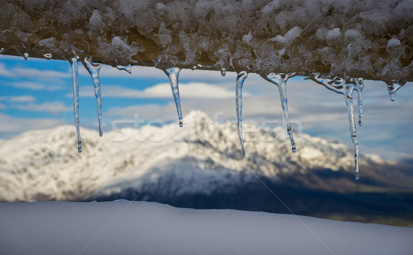 Icicles Hang From the fence  Stock photo © lostation