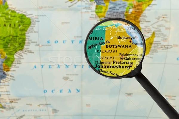 Map of Republic of Botswana Stock photo © lostation