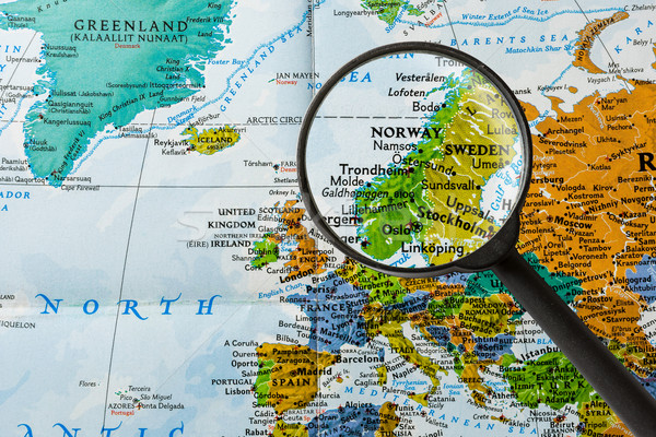 Map of Norway Stock photo © lostation