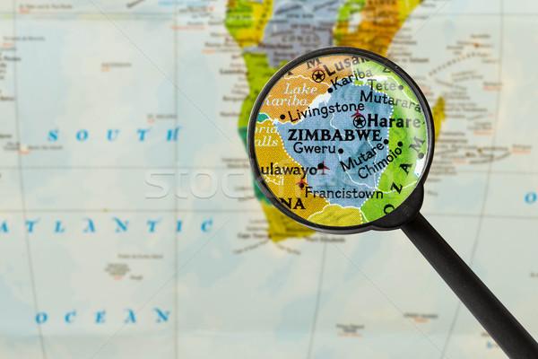 Map of Republic of Zimbabwe Stock photo © lostation