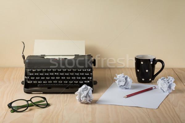 Image of vintage typewriter  Stock photo © lostation