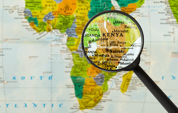 Map of Republic of Kenya Stock photo © lostation