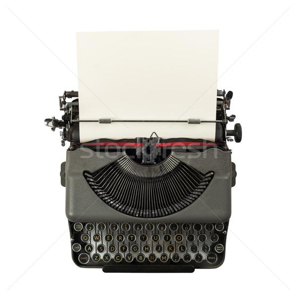 vintage typewriter isolated on white background Stock photo © lostation