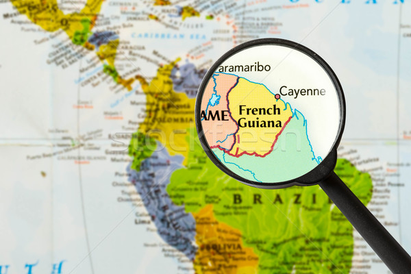 map of French Guiana  Stock photo © lostation