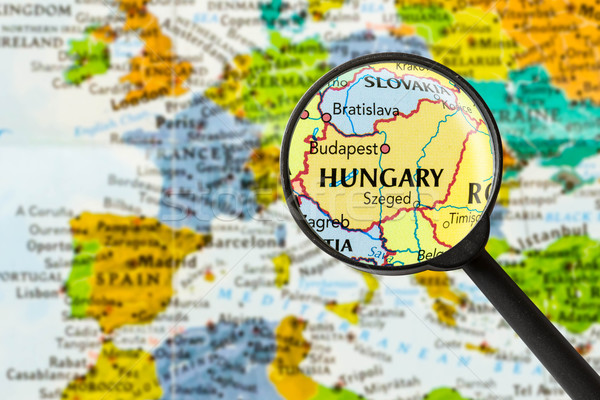 Map of Hungary Stock photo © lostation