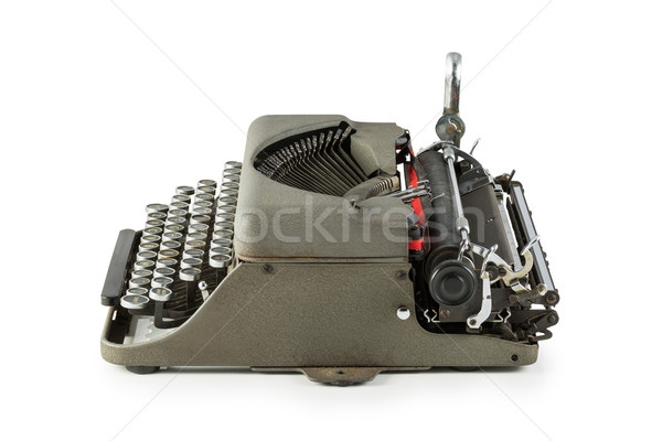 Vintage typewriter isolated on white background Stock photo © lostation