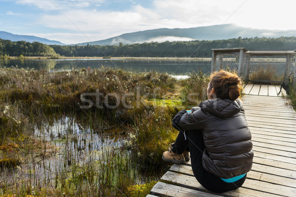 woman hiking at Kepler track Stock photo © lostation