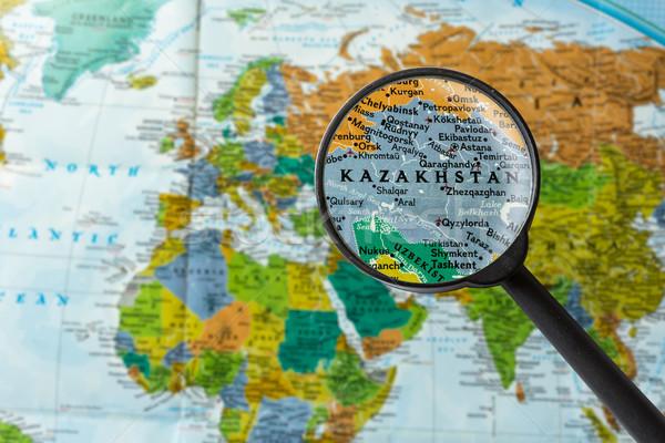 Map of Kazakhstan Stock photo © lostation
