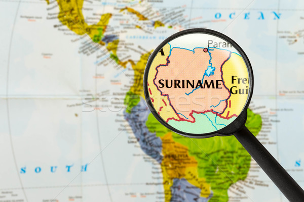 map of Republic of Suriname  Stock photo © lostation
