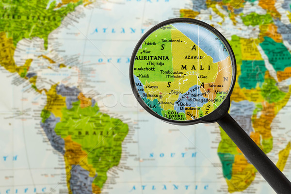 Map of Republic of Mali Stock photo © lostation