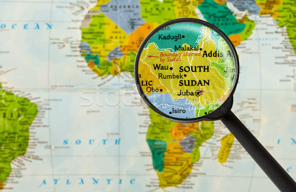 Map of Republic of South Sudan Stock photo © lostation