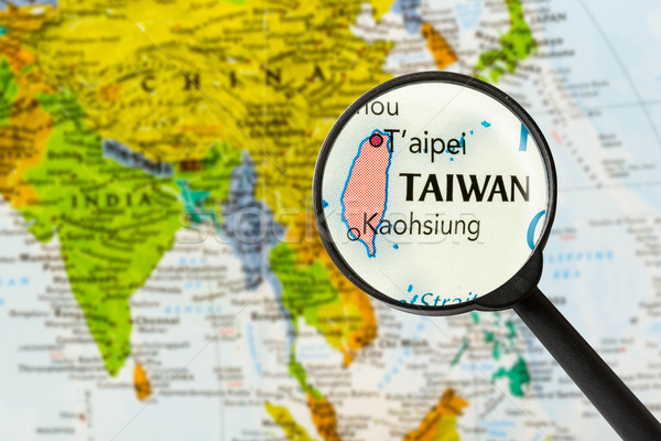Map of  Taiwan Stock photo © lostation