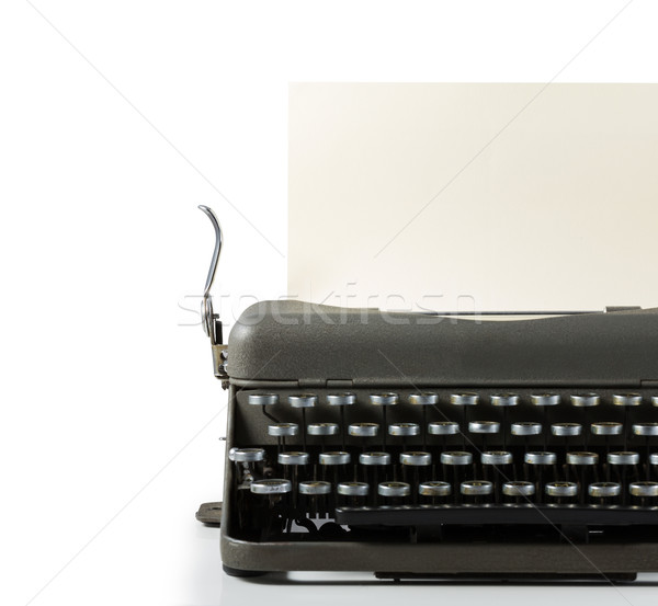 Vintage typewriter with paper isolated on white background Stock photo © lostation