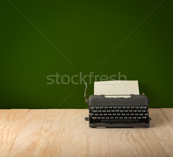 Image of vintage typewriter on blackboard wallpaper Stock photo © lostation