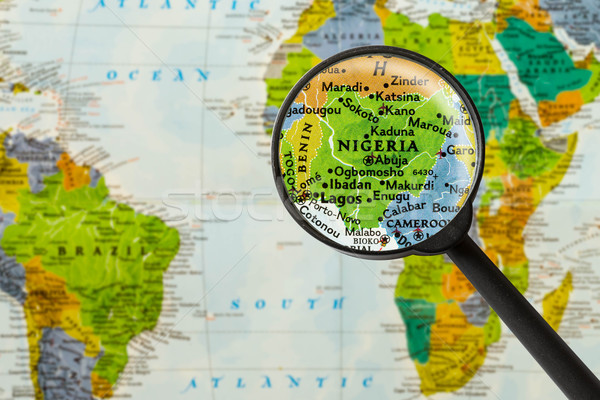 Map of Federal Republic of Nigeria Stock photo © lostation