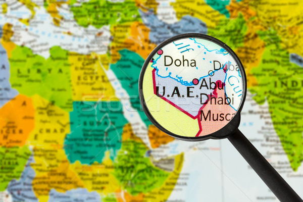 Map of United Arab Emirates  Stock photo © lostation