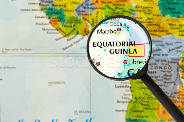 Map of Republic of Equatorial Guinea Stock photo © lostation