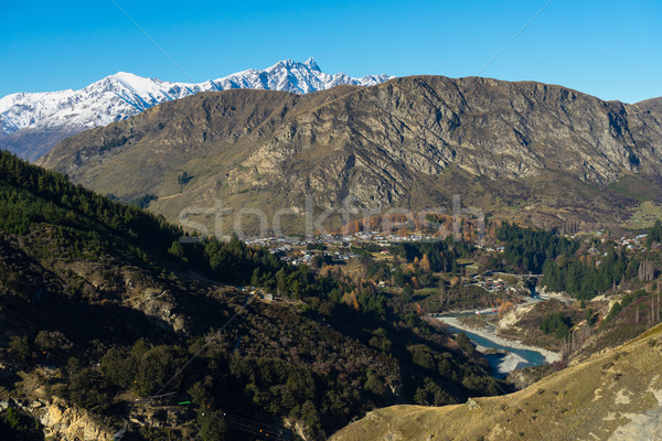 view of Shotover River and the Remarkables mountain Stock photo © lostation