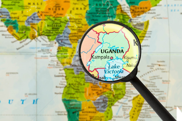 Map of Republic of Uganda Stock photo © lostation