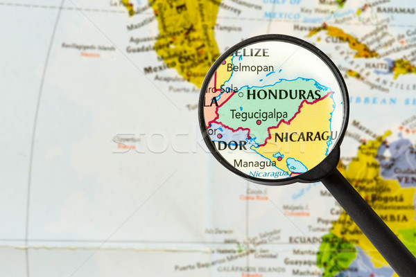 Carte république Honduras loupe ville monde Photo stock © lostation