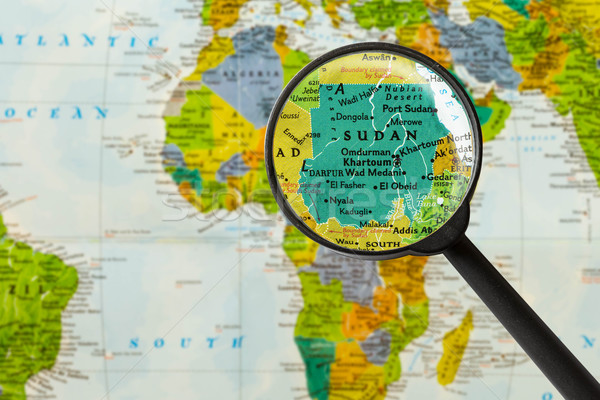 Map of Republic of the Sudan Stock photo © lostation
