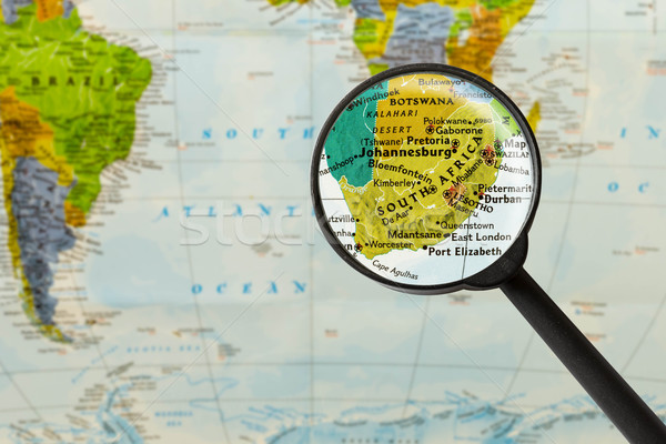 Map of Republic of South Africa Stock photo © lostation
