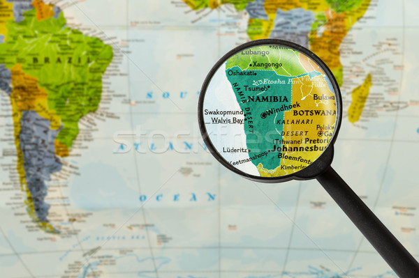 Map of Republic of Namibia Stock photo © lostation