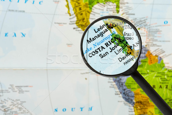map of Republic of Costa Rica  Stock photo © lostation