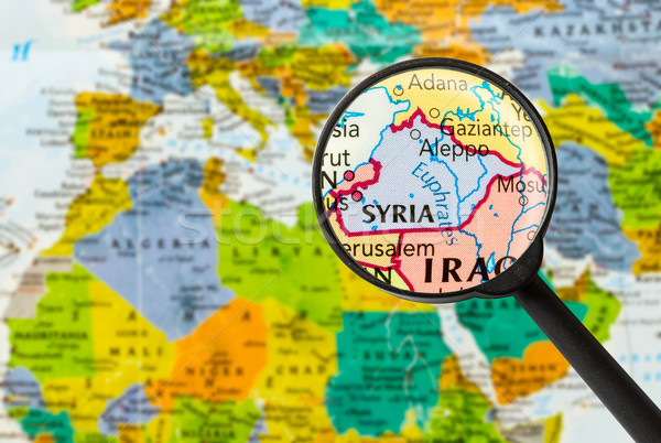 Map of Syrian Arab Republic  Stock photo © lostation