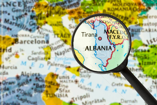 Map of Republic of Albania Stock photo © lostation