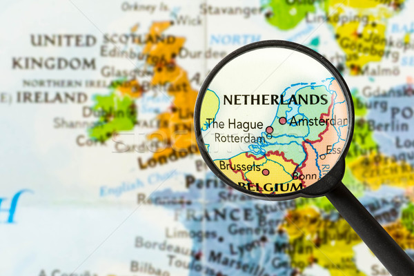 Map of Netherlands Stock photo © lostation