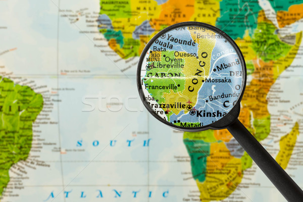 Map of Republic of the Congo Stock photo © lostation