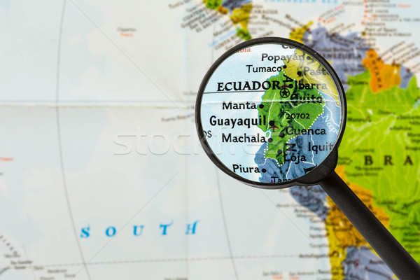 map of Republic of Ecuador  Stock photo © lostation