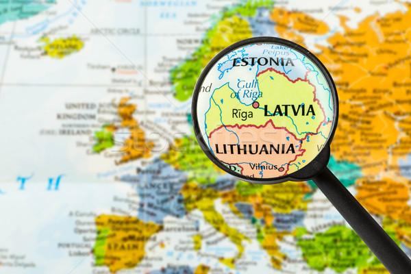 Map of Republic of Latvia Stock photo © lostation