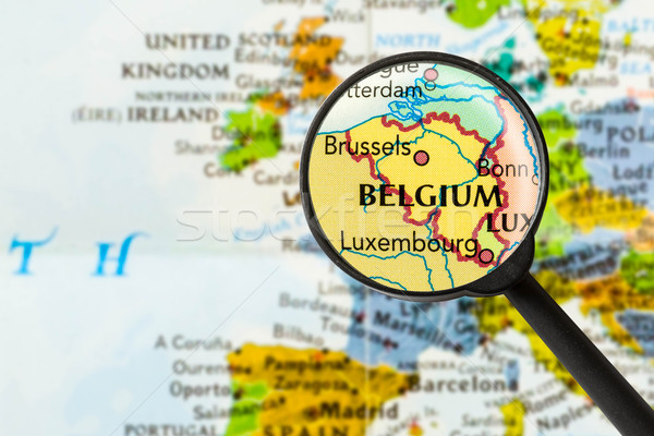 Map of Kingdom of Belgium Stock photo © lostation