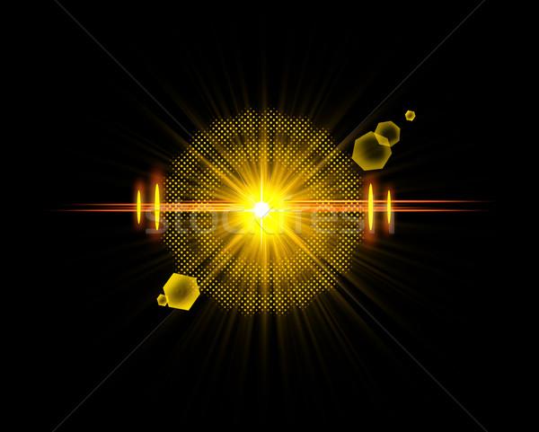 Optyczny świetle star efekt realistyczny Zdjęcia stock © Loud-Mango
