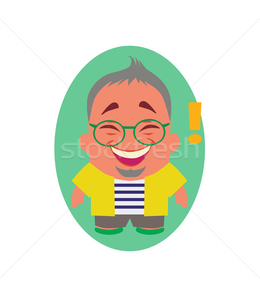 Laughing, Smiling and Happy Avatar of Little Person Cartoon Character in Vector Stock photo © Loud-Mango