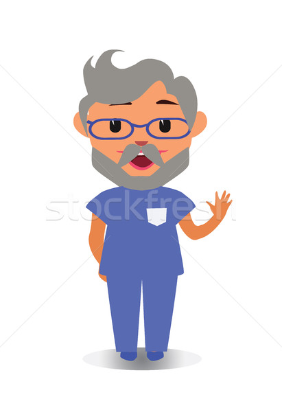 Happy Smiling and Laughing Doctor, Cool and Funny Avatar of Cartoon Character Stock photo © Loud-Mango