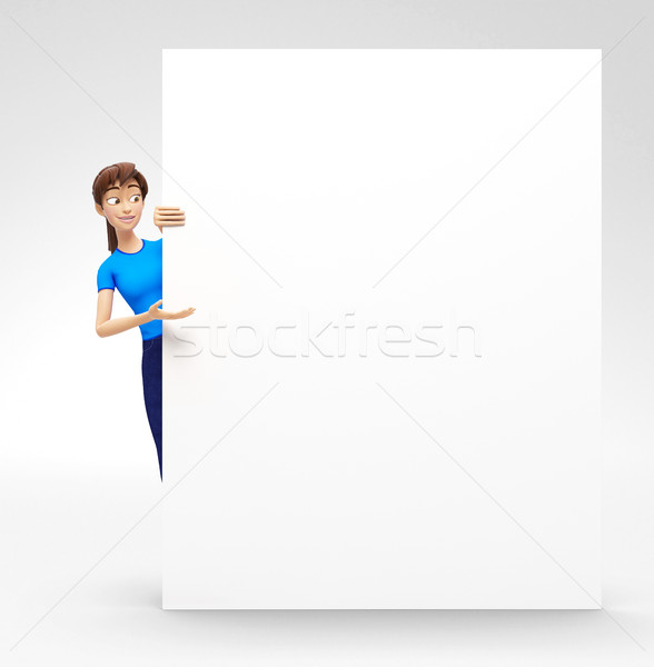 Termék óriásplakát szalag vázlat mosolyog boldog Stock fotó © Loud-Mango
