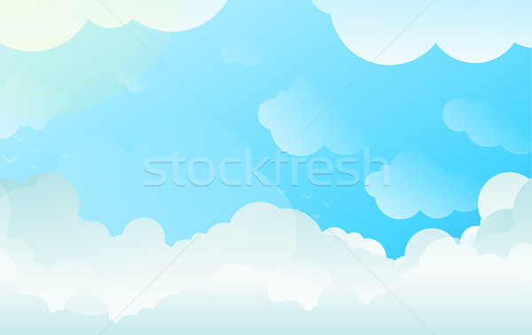 Background with Copyspace of Sky and Clouds in Balanced Gradient Vector Stock photo © Loud-Mango