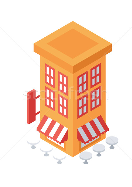 Isometric Building Object or Icon - Element for Web, Tileset Map, Game Stock photo © Loud-Mango